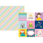 Simple Stories - Little Princess Collection - 12 x 12 Double Sided Paper - 4 x 4 Elements