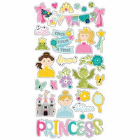 Simple Stories - Little Princess Collection - Chipboard Stickers