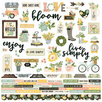 Simple Stories - Spring Farmhouse Collection - 12 x 12 Cardstock Stickers - Combo