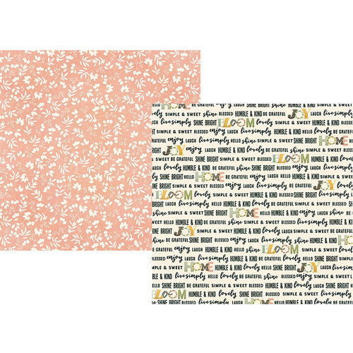 Simple Stories - Spring Farmhouse Collection - 12 x 12 Double Sided Paper - Love This Life
