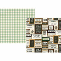 Simple Stories - Spring Farmhouse Collection - 12 x 12 Double Sided Paper - Well Said