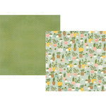Simple Stories - Spring Farmhouse Collection - 12 x 12 Double Sided Paper - Plant Smiles