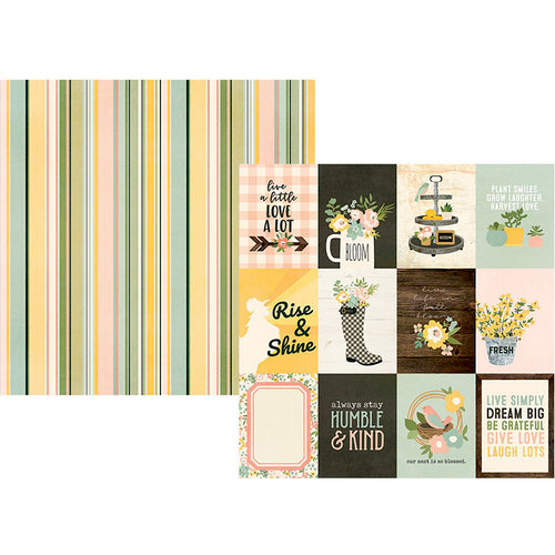 Simple Stories - Spring Farmhouse Collection - 12 x 12 Double Sided Paper - 3 x 4 Elements