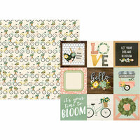 Simple Stories - Spring Farmhouse Collection - 12 x 12 Double Sided Paper - 4 x 4 Elements