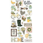 Simple Stories - Spring Farmhouse Collection - Chipboard Stickers