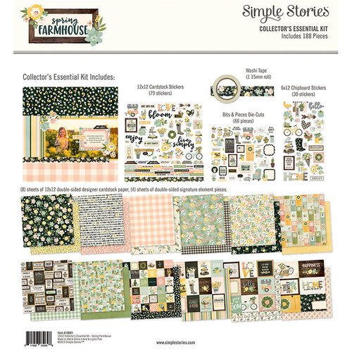 Simple Stories - Spring Farmhouse Collection - 12 x 12 Collector's Essential Kit