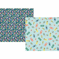 Simple Stories - Sunshine and Blue Skies Collection - 12 x 12 Double Sided Paper - Pool Party