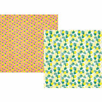 Simple Stories - Sunshine and Blue Skies Collection - 12 x 12 Double Sided Paper - Lemonade Stand