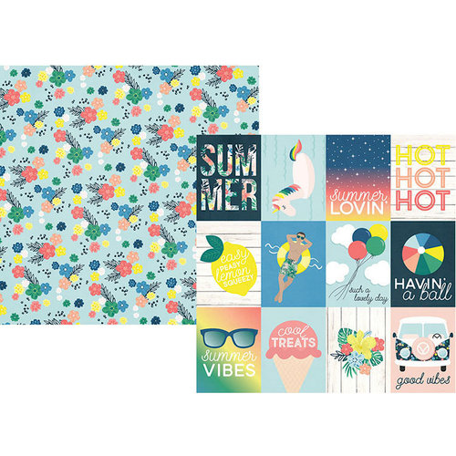 Simple Stories - Sunshine and Blue Skies Collection - 12 x 12 Double Sided Paper - 3 x 4 Elements