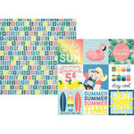 Simple Stories - Sunshine and Blue Skies Collection - 12 x 12 Double Sided Paper - 4 x 4 Elements