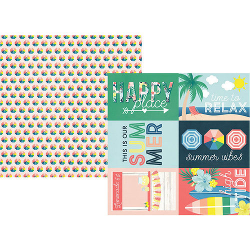 Simple Stories - Sunshine and Blue Skies Collection - 12 x 12 Double Sided Paper - 4 x 6 Elements