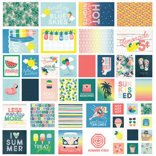 Simple Stories - Sunshine and Blue Skies Collection - SNAP Cards