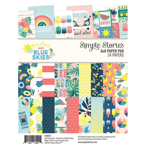 Simple Stories - Sunshine and Blue Skies Collection - 6 x 8 Paper Pad