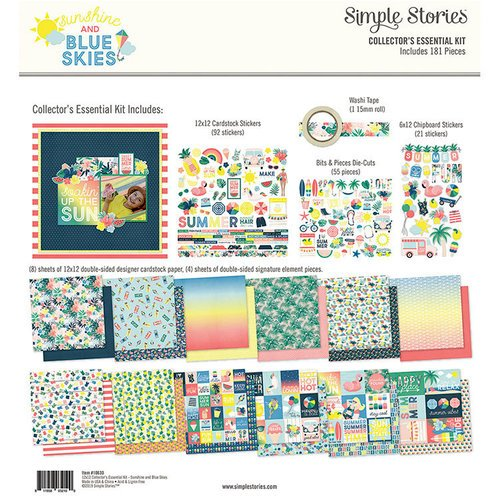 Simple Stories - Sunshine and Blue Skies Collection - 12 x 12 Collector's Essential Kit