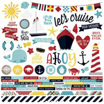 Simple Stories - Cruisin' Collection - 12 x 12 Cardstock Stickers - Combo