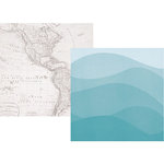 Simple Stories - Cruisin' Collection - 12 x 12 Double Sided Paper - Lost at Sea