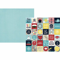 Simple Stories - Cruisin' Collection - 12 x 12 Double Sided Paper - 2 x 2 Elements