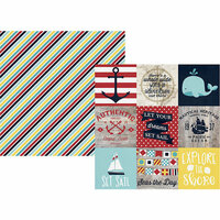 Simple Stories - Cruisin' Collection - 12 x 12 Double Sided Paper - 4 x 4 Elements