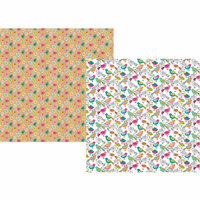 Simple Stories - Oh Happy Day Collection - 12 x 12 Double Sided Paper - Spread Your Wings