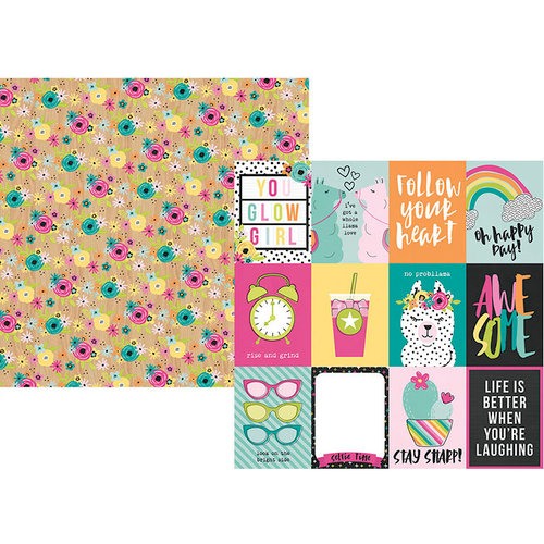 Simple Stories - Oh Happy Day Collection - 12 x 12 Double Sided Paper - 3 x 4 Elements