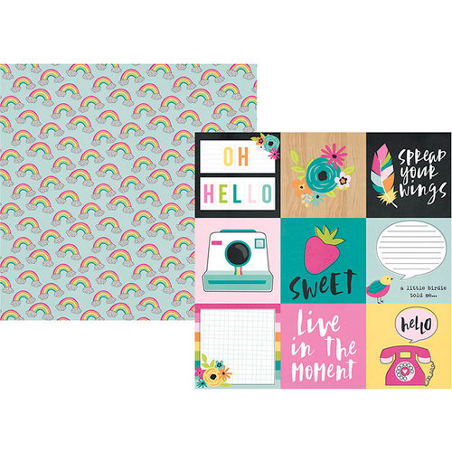 Simple Stories - Oh Happy Day Collection - 12 x 12 Double Sided Paper - 4 x 4 Elements
