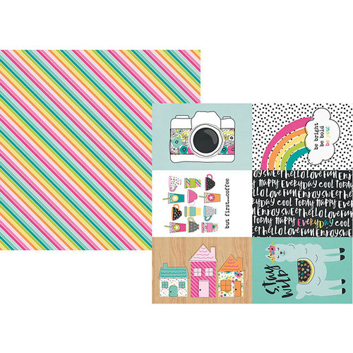 Simple Stories - Oh Happy Day Collection - 12 x 12 Double Sided Paper - 4 x 6 Elements