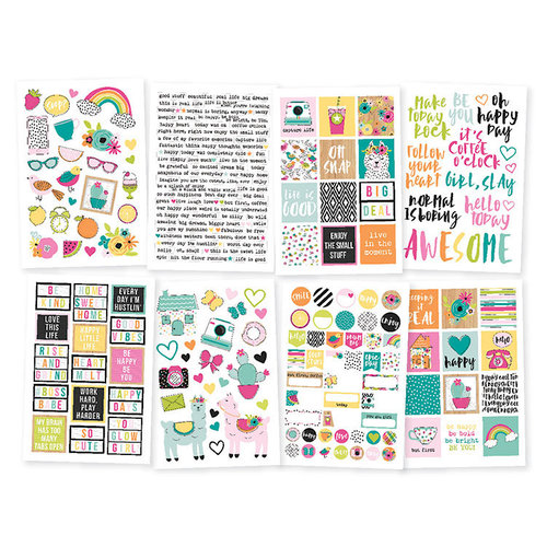 Simple Stories - Oh Happy Day Collection - Cardstock Stickers
