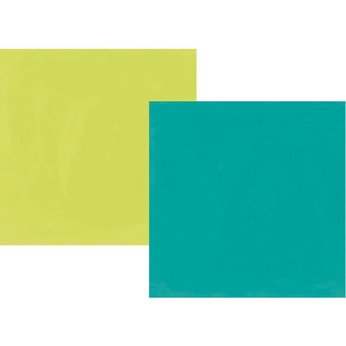 Simple Stories - Oh Happy Day Collection - 12 x 12 Double Sided Paper - Teal and Lime