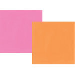 Simple Stories - Oh Happy Day Collection - 12 x 12 Double Sided Paper - Orange and Pink