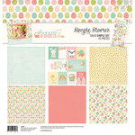 Simple Stories - Bunnies and Baskets Collection - 12 x 12 Collection Kit