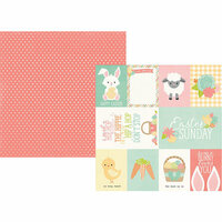 Simple Stories - Bunnies and Baskets Collection - 12 x 12 Double Sided Paper - 3 x 4 and 4 x 6 Elements