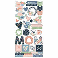 Simple Stories - Mom's Day Collection - Cardstock Stickers