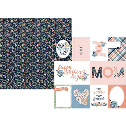 Simple Stories - Mom's Day Collection - 12 x 12 Double Sided Paper - 3 x 4 and 4 x 6 Elements