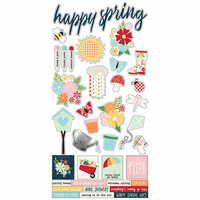 Simple Stories - Springtime Collection - Cardstock Stickers
