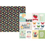 Simple Stories - Springtime Collection - 12 x 12 Double Sided Paper - 3 x 4 and 4 x 6 Elements