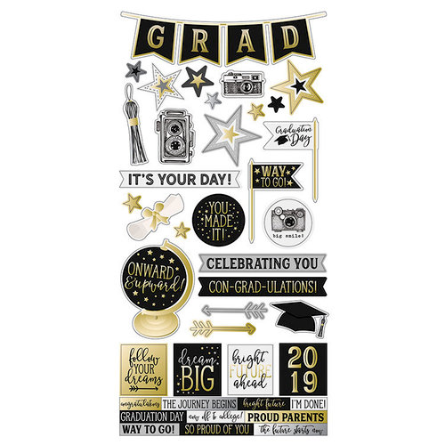Simple Stories - Con-GRAD-ulations Collection - Cardstock Stickers