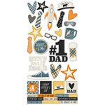 Simple Stories - Dad Life Collection - Cardstock Stickers