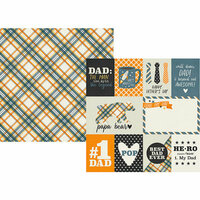 Simple Stories - Dad Life Collection - 12 x 12 Double Sided Paper - 3 x 4 and 4 x 6 Elements