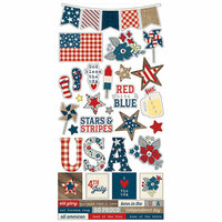 Simple Stories - Let Freedom Ring Collection - Cardstock Stickers