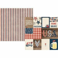 Simple Stories - Let Freedom Ring Collection - 12 x 12 Double Sided Paper - 3 x 4 and 4 x 6 Elements