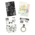 Simple Stories - Carpe Diem - Traveler's Notebook Bundle - Black Vintage Floral