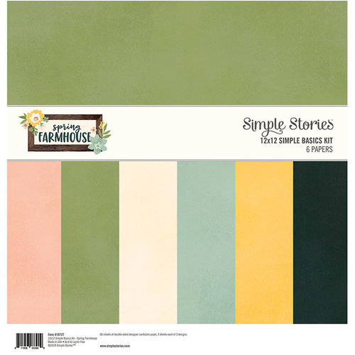 Simple Stories - Spring Farmhouse Collection - 12 x 12 Simple Basics Kit