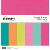 Simple Stories - Oh Happy Day Collection - 12 x 12 Simple Basics Kit