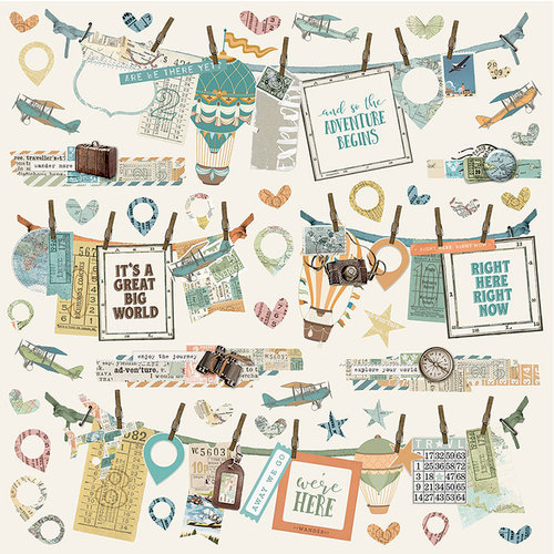 Simple Stories - Simple Vintage Traveler Collection - 12 x 12 Cardstock Stickers - Banners