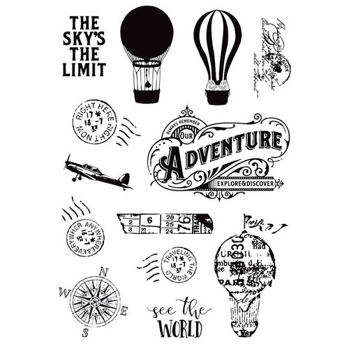 Simple Stories - Simple Vintage Traveler Collection - Clear Photopolymer Stamps - See the World