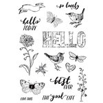 Simple Stories - Simple Vintage Botanicals Collection - Clear Photopolymer Stamps - Love Life