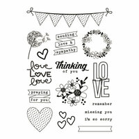 Simple Stories - Heart Collection - Clear Photopolymer Stamps - Always in My Heart