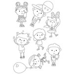Simple Stories - Say Cheese 4 Collection - Clear Photopolymer Stamps - Happy Kids
