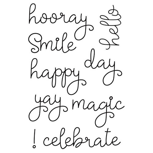 Simple Stories - Say Cheese 4 Collection - Clear Photopolymer Stamps - Happy Words