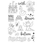 Simple Stories - Little Princess Collection - Clear Photopolymer Stamps - Make a Wish